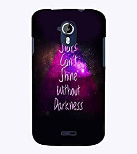 PrintVisa Quotes & Messages Stars 3D Hard Polycarbonate Designer Back Case Cover for Micromax Magnus A117