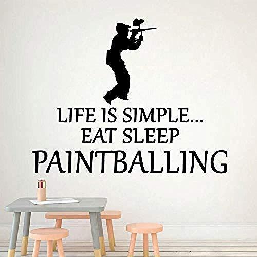 Wandaufkleber Mode Paintball Wandtattoos PVC Wandkunst DIY Poster Wandtattoos Wasserdichte Wandaufkleber für childs Zimmer 57x71 cm