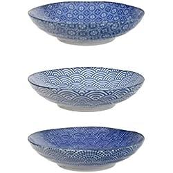 Tokyo Design Studio Nippon Blue Pastateller Ø 21cm (3er-Set)