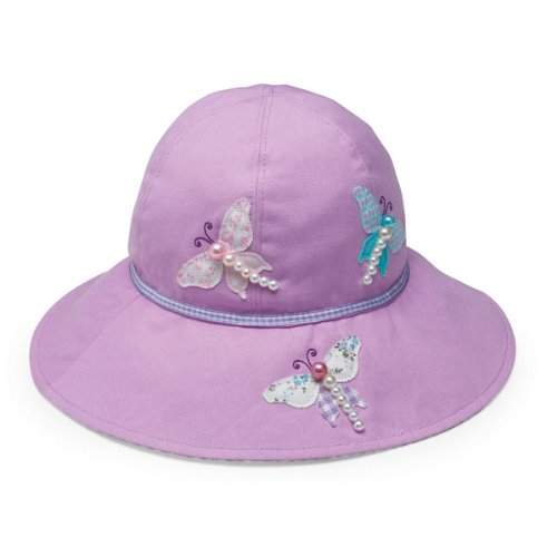 Wallaroo Hats Mädchen UV Schutz Sonnenhut, violett, 54 cm, SOP-12