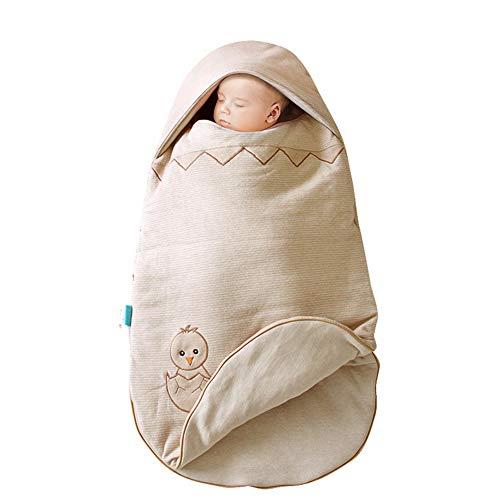 Babigods neonato sacchi nanna regolabile sacco nanna multiuso bambino nido d'ape, reversibile unisex sacco a pelo 100% cotone 7842cm addensare,natural
