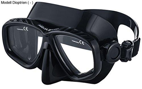 Aqua Speed - Optic PRO Taucherbrille mit Sehstärke/Dioptrien Rechts/Links individuell von +1,75; +2,25; +2,75 und -1,0 bis -8,5 | Tauchmaske | Schnorchelmaske | 07B