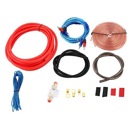 DEjasnyfall Professionelle 2300 Watt 4 Gauge Amp Kit Verstärker Installieren Verdrahtung & 2,5 Farad Digital Kondensator Installation Verdrahtung Draht (Bunte)