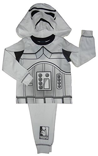 Jungen Star Wars Schlafanzüge Verkleidung Darth Vader und Stormtrooper Eu 92-128 - Storm Trooper, (Kinder Stormtrooper Wars Star Kostüm)
