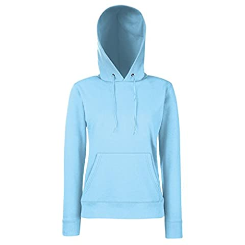 Fruit Of The Loom Lady Fit Pullover mit Kapuze M,Himmelblau