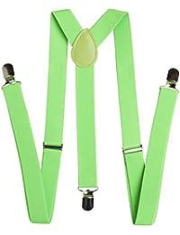 BRUBAKER bretelles pour homme modèle 3 à 24 mm de large couleur 6 couleurs même noir