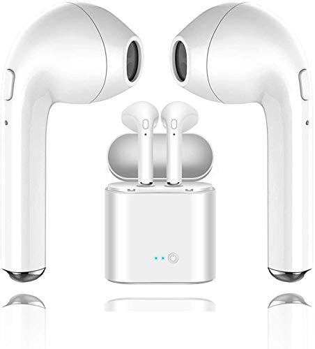 Auricolari Bluetooth Auricolari Wireless Auricolari in Alta fedeltà Stereo con Microfono Incorporato e Chiamata Portatile per Compatibile Apple Airpods Android/iPhone