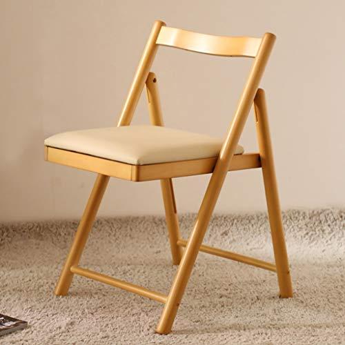 WOZUIMEI Chaise Chaise Chaise Chaise Dossier Dossier en Bois Massif Meubles de Maison pour Adultes Chaise Pliante Chaise, c