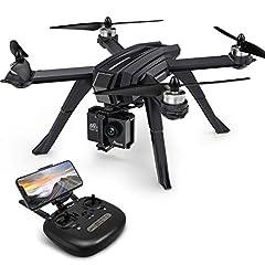 Idea Regalo - Potensic Drone Brushless GPS WiFi 5G con VideoCamera 1080P FPV RC 130° Grandangolare Drone Professionale D85 con Funzione Seguimi, Headless per Camera C6000 C5000 C4000
