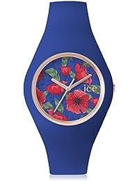 Ice-Watch - ICE flower Royal - Montre bleue pour femme avec bracelet en silicone - 001302 (Medium)