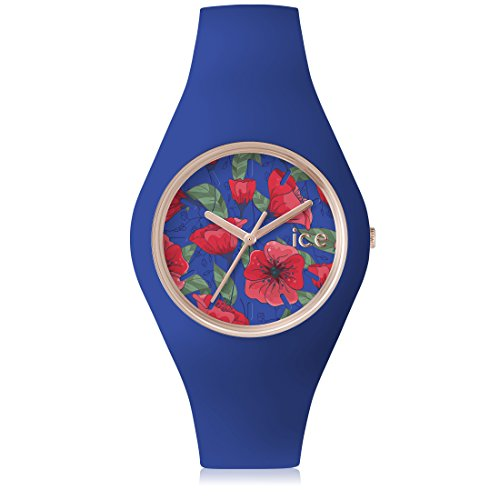 Ice-Watch - ICE flower Royal - Montre bleue pour femme avec bracelet en silicone - 001302 (Medium)
