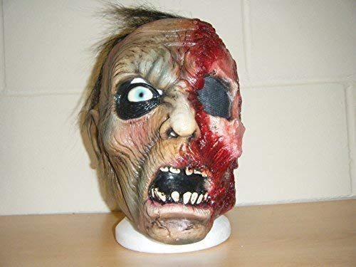 WRESTLING MASKS UK Zombie One Eye Skelett Monster Schädel LUXUS Halloween Voller Kopf Kostüm Kostüm Maske