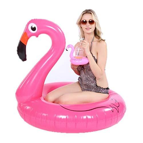Aufblasbarer Flamingo Schwimmring Luftmatratzen, Aufblasartikel Strandspielzeug Passend für Kinder und Erwachsene