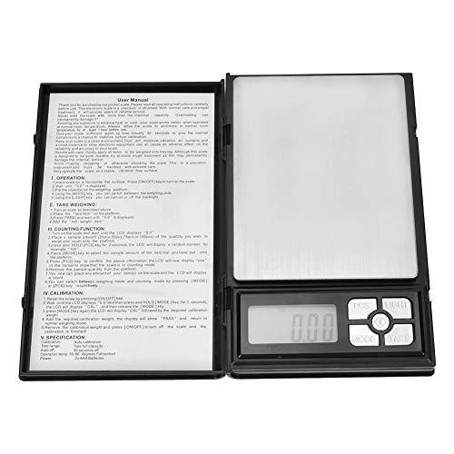 Zerone Báscula digital, báscula de mano LCD digital para pesaje de gemas preciosas y báscula de laboratorio de joyería
