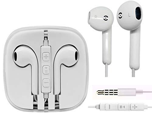 Auricolari Jiayou Cuffie Auricolare con telecomando e microfono per iPhone 4 4s 5 5s 5c 5se 6 6 plus 6s 6s plus iPod iPad Macbook etc (Apple Edition 2 Pezzi)