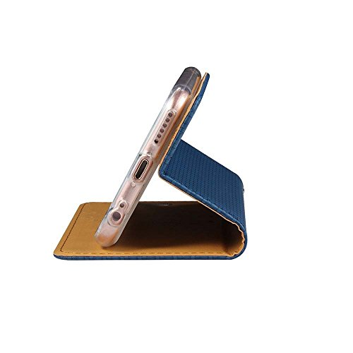 """iPhone 6S Plus Coque, SHANGRUN Élégant PU Cuir TPU Intérieur Folio Carte de Crédit Fentes Supporter Housse Étui Cover Case pour iPhone 6 Plus / 6S Plus 5.5"""" Bleu Bleu"""
