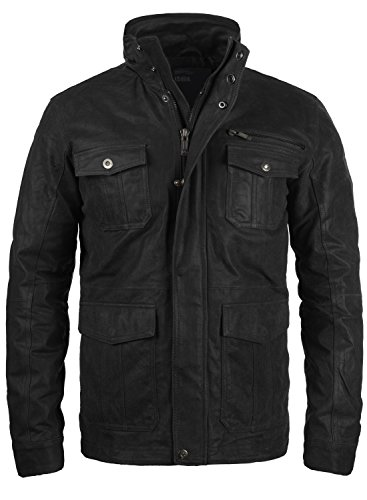 solid-lash-mens-leather-field-jacket-sizelcolourblack-9000