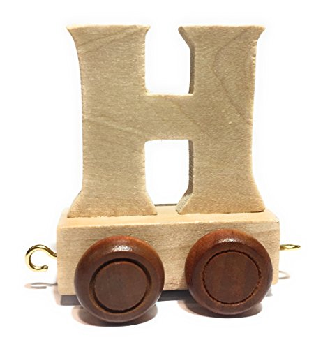 Buchstabenzug | Wunschname zusammenstellen | Holzeisenbahn | EbyReo® Namenszug aus Holz | personalisierbar | auch als Geschenk Set ( Buchstabenzug H )