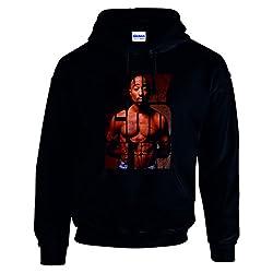 """TTC, Sweatshirt, mit Tupac-Motiv und Aufdruck: """"ONLY GOD CAN JUDGE ME NOW"""" Gr. xl, schwarz"""