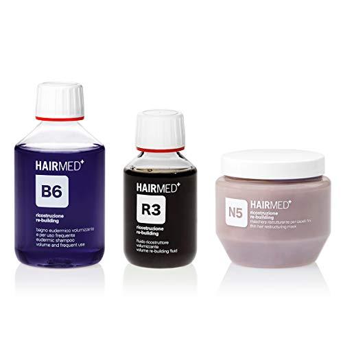 Scheda dettagliata HAIRMED - Set Volumizzante per Capelli Fini Professionale - Shampoo B6, Maschera N5 e Siero Cheratina R3