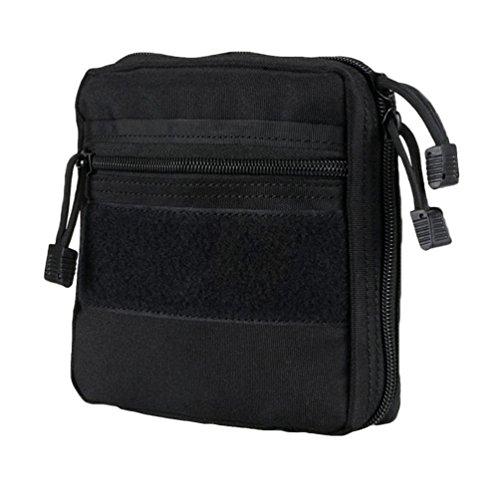 fixuk Tactical Multi Medical Nylon Utility Tool Gürteltasche Erste Hilfe Kit Survival Tasche, schwarz