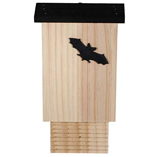 SIDCO Fledermauskasten Fledermaus Unterschlupf Holz mit Motiv Schutz Tier Naturschutz