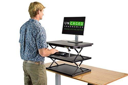 Uncaged Ergonomie cdm2-b hoch Ergonomischer Laptop und Desktop stehen Schreibtisch–Schwarz
