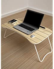 Story@Home Multipurpose Foladable Adjustable Portable Wooden Laptop Table Study Table Bed Table Activity Table Lapdesk with Dock Stand Coffee Table