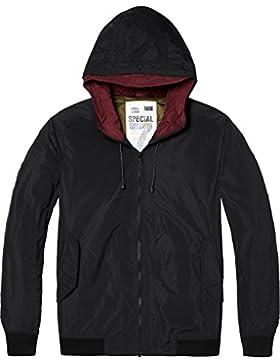 Scotch & Soda Short Hooded Nylon Jacket, Chaqueta para Hombre