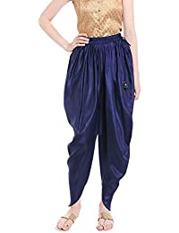 Fusion Beats Women's Viscose Navy Blue Solid Dhoti Bottom