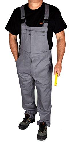 Stabile Heimwerker Arbeits-Latzhose Arbeitshose Arbeitskleidung in Grau - IW023