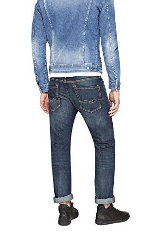 Replay Herren Straight Jeans Waitom Blau (Blue Denim 7)