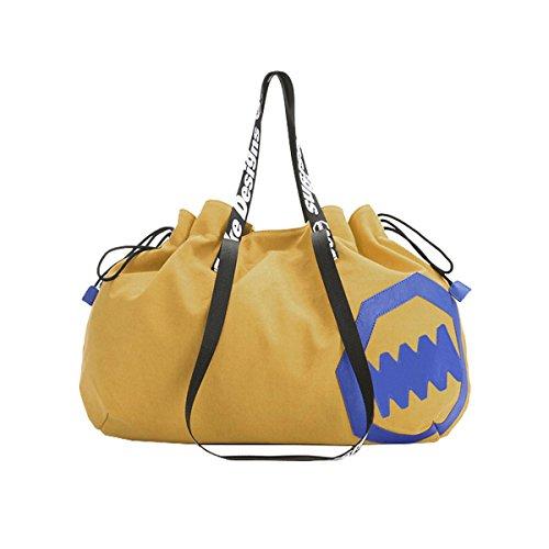 Frauen einfache Art Vintage Leinwand Umhängetasche Hobo Schultertasche Totes Handtasche (Hobo Coral)
