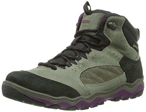 Ecco Ecco Ulterra, Chaussures de trekking et randonnée femme Gris - Grau (BLACK/DARK SHADOW/BURGUNDY 58638)
