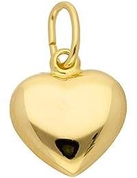 Gold Anhänger Herz aus 333 Gelbgold