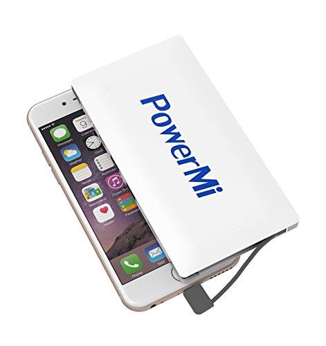 PowerMi 8000 mAh - Cables Lightning y micro USB