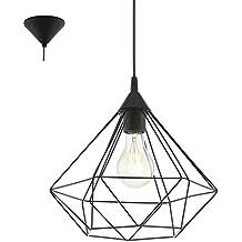Eglo Lampe Suspension E27 Ø325 'Tarbes'(Noir Mat)