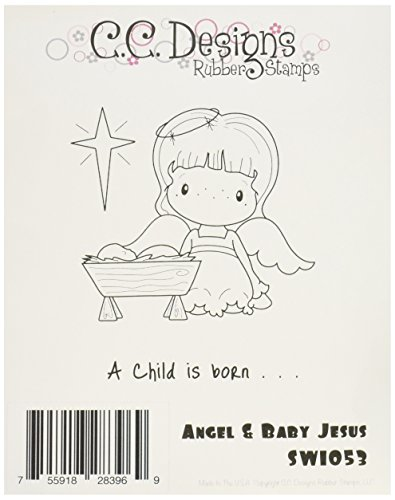 cc-designs-foam-swiss-pixie-cling-stamp-325-inch-x-35-inch-baby-jesus-and-angel