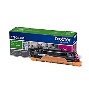 Brother TN247M Toner Cartridge, High Yield, Magenta, Brother Genuine Supplies