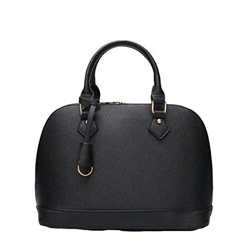 Art Und Weise Beiläufige Wilde Schalenbeutel Kurierbeutel-Schulterbeutel-Handtaschendamen Leder Black