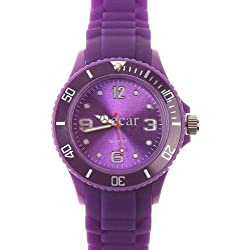 PURPLE I-STYLE QUARTZ RUBBER SILICONE SPORTS WATCH UNISEX WITHOUT DATE SMALL VERSION 38MM