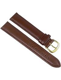 Barington Correa de Reloj piel de becerrocuero XL Band Wasserfest marrón 18mm 89271825
