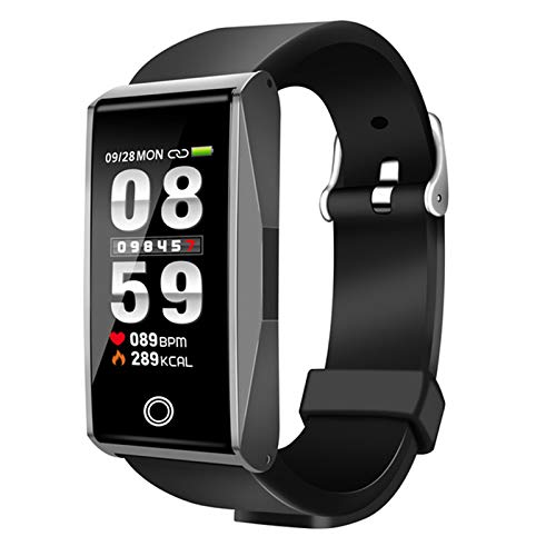 Nrpfell B2 Smart Armbanduhr Aktivit?ts Tracker Uhren Blutdruck Gesundheit Pulsometer Sport Smartband Fitness Armband(Silber Grau)