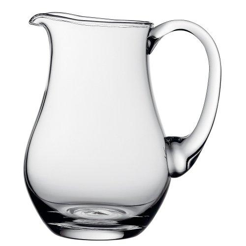 WMF Polo Glaskrug 1,0l, Wasserkrug aus Glas, Krug mit Henkel, spülmaschinengeeignet