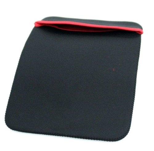 Preisvergleich Produktbild Hochwertige Neopren Case Schutzhülle Tasche Zweiseitig Schwarz/Rot für Apple iPad / Etui / Bag / Schutztasche