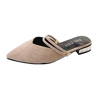 Women Shoes Slingback Flat Block Heels Pointed Toe Dress Pumps Block Heel Summer Pumps Beige