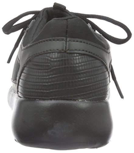 Bianco Casual Step In Shoe Jja16, Baskets Basses Femme Noir - Schwarz (10/Black)