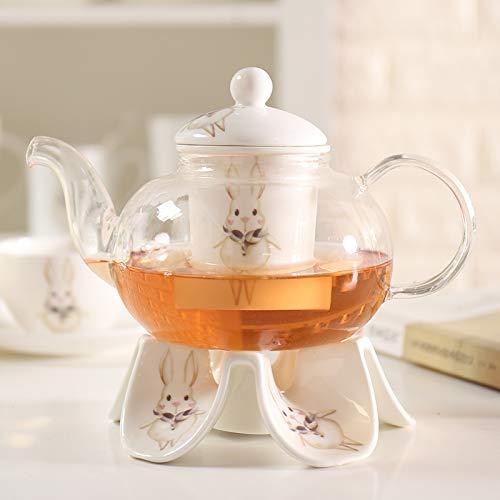 Teekanne Langlebige Hitzebeständige Glas Kristall Teekanne Kaffee Wasser Duftende Tee Wärmer Kerze Heizung Keramik Basis siehe Diagramm