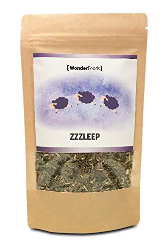 Zzzleep Schlaf-Tee von Wonderfoods | Der Abend-Tee zum schnellen Einschlafen und Durchschlafen | Die...