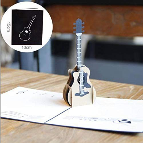 Einladungen 3D-Gitarre Postkarte Geburtstagskarte kreatives Festival Musik-Party Karte Danksagung Segen Karte